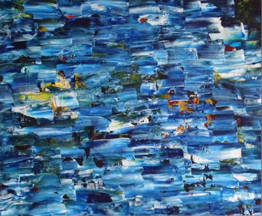 """Painting titled """"Extraction blue"""" by Conrad Bloemers, Original Art, Acrylic"""