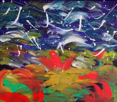"""Painting titled """"Beyond worlds"""" by Conrad Bloemers, Original Art, Acrylic"""
