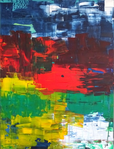 """Painting titled """"Something in the ai…"""" by Conrad Bloemers, Original Art, Acrylic"""
