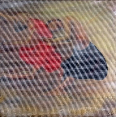 """Painting titled """"Bolero dancers"""" by Conrad Bloemers, Original Art, Oil Mounted on Other rigid panel"""