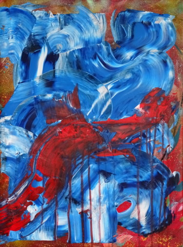 """Painting titled """"Trans global"""" by Conrad Bloemers, Original Art, Acrylic"""