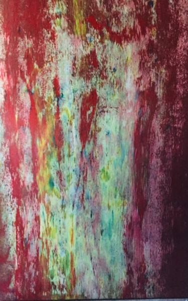 """Painting titled """"red shadows"""" by Greg Powell, Original Art, Enamel"""