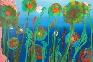 """Painting titled """"paradis sous-marin"""" by Rick Smith, Original Art, Acrylic Mounted on Stretcher frame"""