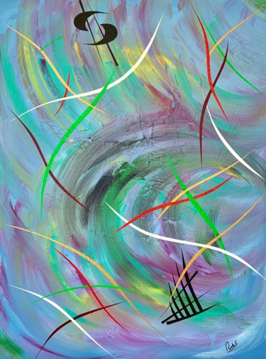 """Painting titled """"VIBRATIONS TOURNANT…"""" by Rick Smith, Original Art, Acrylic"""