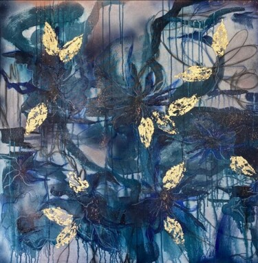 """Painting titled """"Bleuets"""" by Marie-Laure D'Orso, Original Art, Acrylic Mounted on Stretcher frame"""