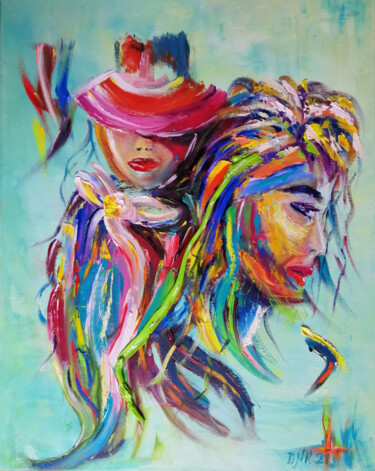 """Painting titled """"Umbilical Cord: Bes…"""" by Valerie Kraplia, Original Art, Oil"""