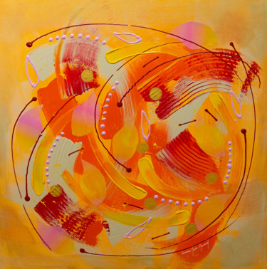 Painting, acrylic, abstract, artwork by Corinne Mure-Ravaud