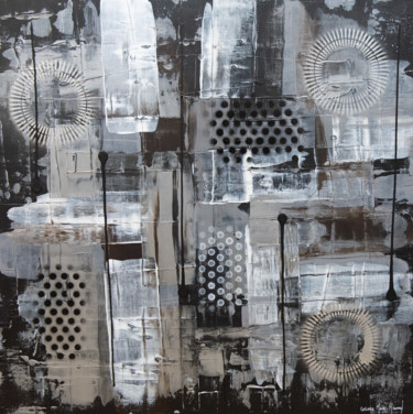 Industry Painting, acrylic, abstract, artwork by Corinne Mure-Ravaud