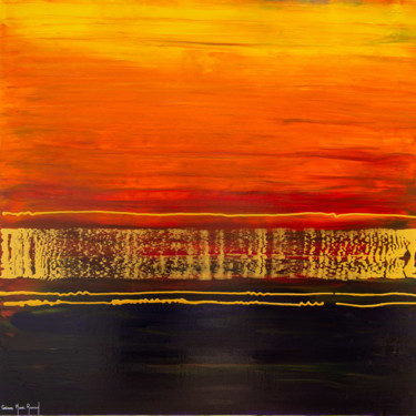 """Painting titled """"Les brumes tropical…"""" by Corinne Mure-Ravaud, Original Art, Acrylic"""