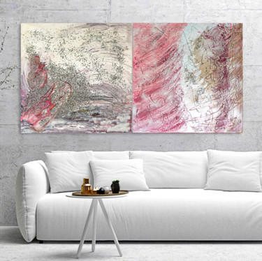 Painting, acrylic, abstract, artwork by Cornelia Petrea