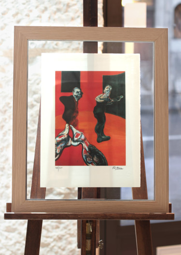 Printmaking, screenprinting, abstract, artwork by Coté Cadres