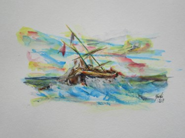"""Painting titled """"beaufort-force-12-g…"""" by Countess, Original Art, Watercolor"""