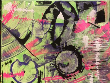 Abstract Painting, acrylic, expressionism, artwork by Jessica Crazy Crafts Art