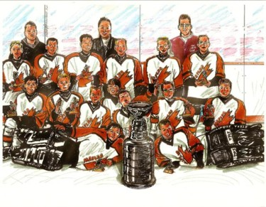 """Painting titled """"Boys championship h…"""" by David Quilliams, Original Art,"""