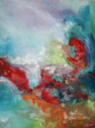"""Painting titled """"Dreaming"""" by Maria Crespo, Original Art, Oil"""