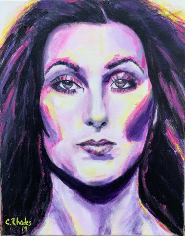 """Painting titled """"Cher"""" by Corbyn Rhodes, Original Art, Acrylic"""