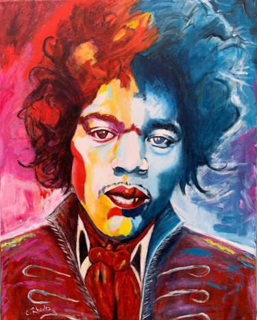 """Painting titled """"Hendrix"""" by Corbyn Rhodes, Original Art, Acrylic Mounted on Stretcher frame"""