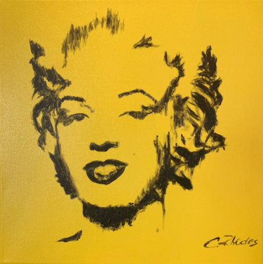 """Painting titled """"Yellow Marilyn"""" by Corbyn Rhodes, Original Art, Acrylic Mounted on Stretcher frame"""
