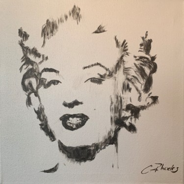 """Painting titled """"Silver Marilyn"""" by Corbyn Rhodes, Original Art, Acrylic Mounted on Stretcher frame"""