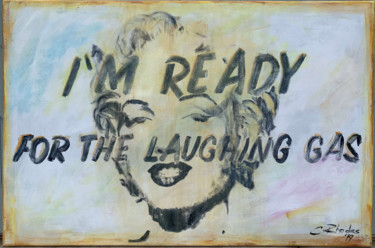 """Painting titled """"Laughing Gas"""" by Corbyn Rhodes, Original Art, Acrylic Mounted on Stretcher frame"""