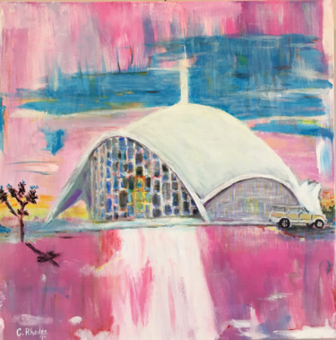 """Painting titled """"Church of the Future"""" by Corbyn Rhodes, Original Art, Acrylic"""