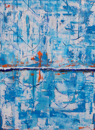 """Painting titled """"Linear"""" by Corbyn Rhodes, Original Art, Acrylic Mounted on Stretcher frame"""