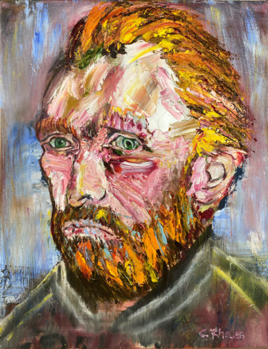 """Painting titled """"Van Gogh, All Thing…"""" by Corbyn Rhodes, Original Art, Oil"""