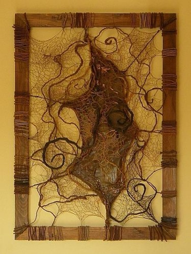 """Painting titled """"Roots"""" by Cristina Zegrea, Original Art, Other"""