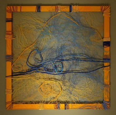 """Painting titled """"Soft Geometry"""" by Cristina Zegrea, Original Art, Other"""