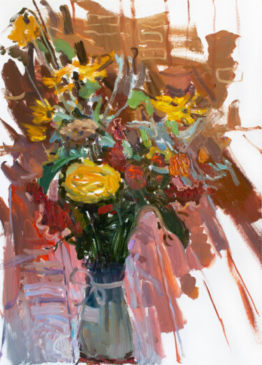 """Painting titled """"FALL FRAGRANCE."""" by Cryptid, Original Art, Oil"""