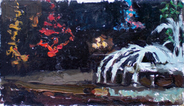 """Painting titled """"THE MAGIC WINTER SQ…"""" by Cryptid, Original Art, Oil"""