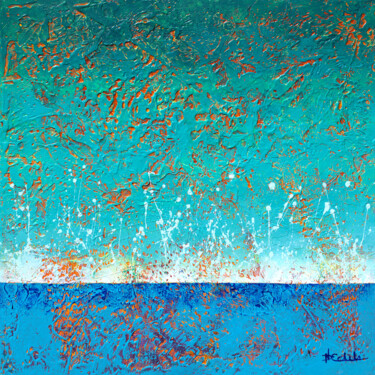 """Painting titled """"Morning Splash"""" by Nancy Eckels, Original Art, Acrylic Mounted on Stretcher frame"""
