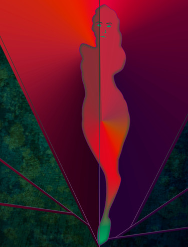 Abstract Painting, digital painting, expressionism, artwork by Curtis Doll