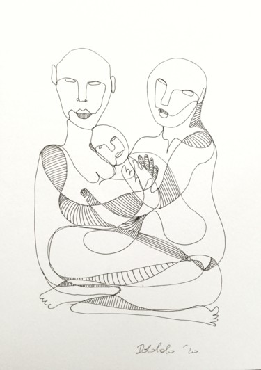 """Drawing titled """"coppia 01"""" by Dabobabo, Original Art, Marker"""