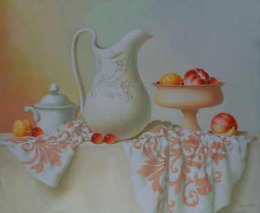 Still life Painting, oil, classicism, artwork by Dace Lapina