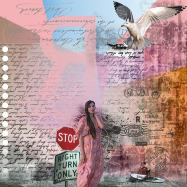 """Printmaking titled """"Dreams about hope.…"""" by Viorel Florin Costea (DadaVFC), Original Art, Digital Painting Mounted on Stretc…"""