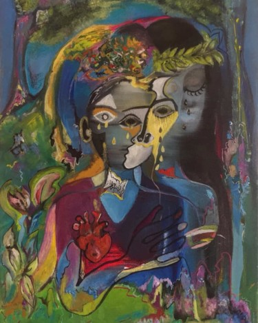 Painting, oil, artwork by Dafinë Vitija