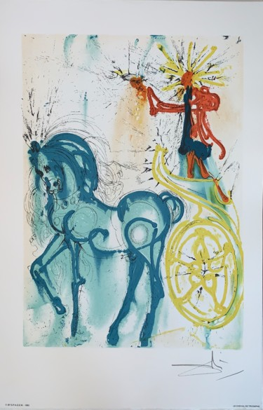 22.4x14.6 in ©1983 by Salvador Dali