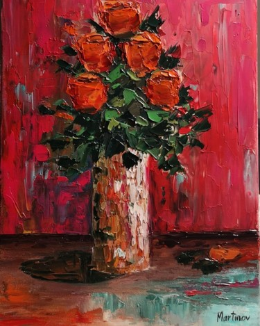 """Painting titled """"Scent of roses"""" by Dana Martinov, Original Art, Oil"""