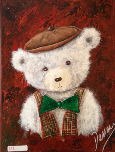"""Painting titled """"nounours"""" by Daniel Fontaine, Original Art, Acrylic"""
