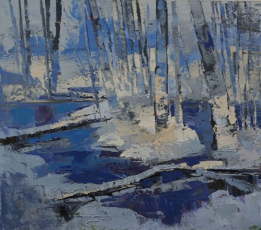 Forest Painting, oil, expressionism, artwork by Daniel Gromacki