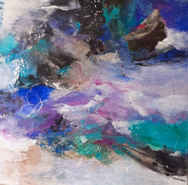 Abstract Painting, collages, abstract, artwork by Danielle Dunevon