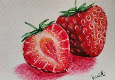 """Drawing titled """"Strawberry"""" by Danielle Siauw, Original Art, Pencil"""