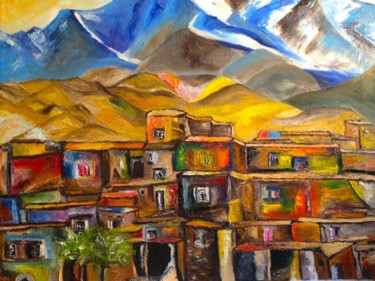 """Painting titled """"""""LE BLED"""" (THE BLED)"""" by Danygil, Original Art, Oil"""