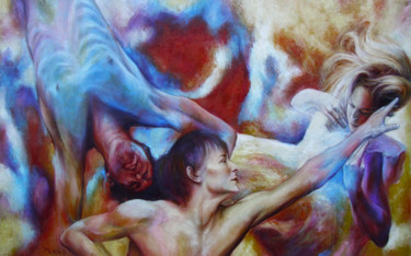 """Painting titled """"The Mysterious flam…"""" by Danko Merin, Original Art, Oil"""