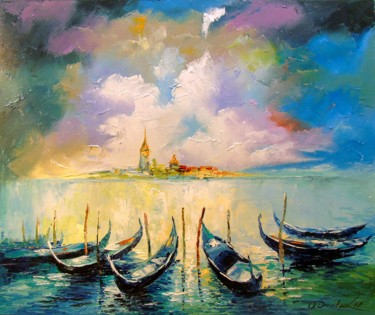 """Painting titled """"Venice before the s…"""" by Olha, Original Art, Oil"""