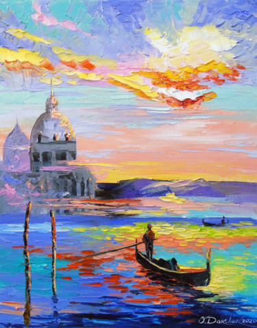"""Painting titled """"Venice and gondolas"""" by Olha, Original Art, Oil"""