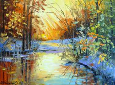 Painting, oil, impressionism, artwork by Olha