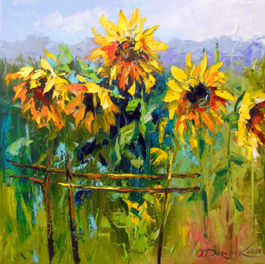 """Painting titled """"Sunflowers  and  wi…"""" by Olha, Original Art, Oil"""
