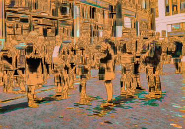 """Photography titled """"Lunchtime Boozers,…"""" by Dave Collier (Collimost), Original Art, Manipulated Photography"""